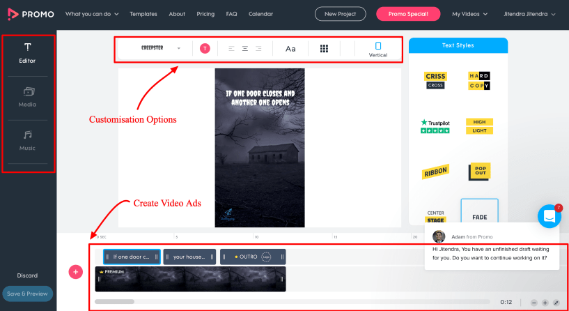 Promo.com Review- The Video Ad maker