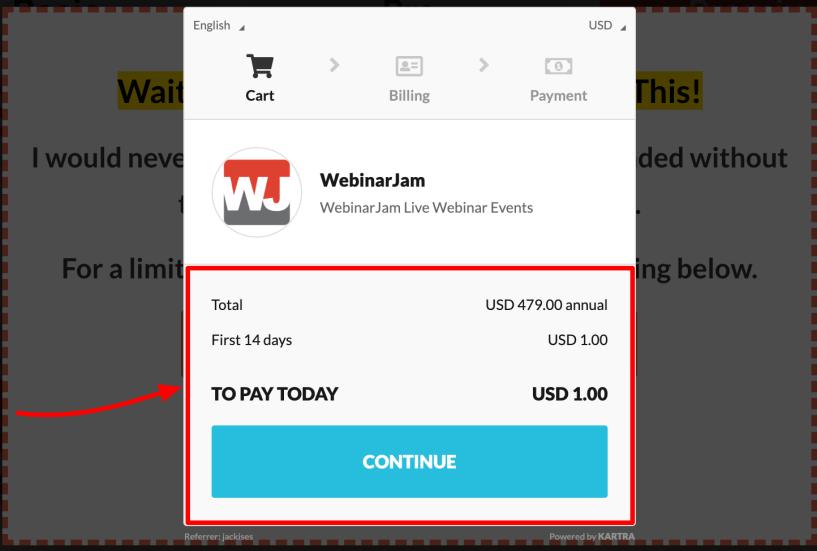 WebinarJam- 14 days trial offer