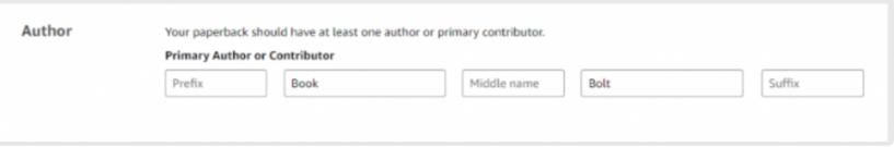 Start A Publishing Company- GIve Author Name