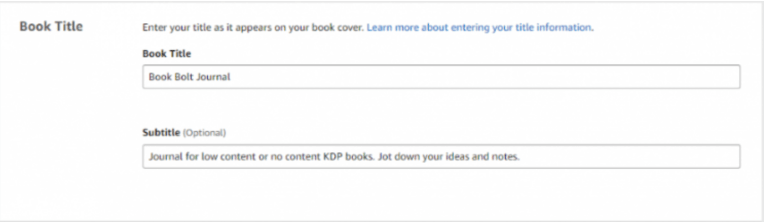 Start Your Publishing With KDP- Book Title