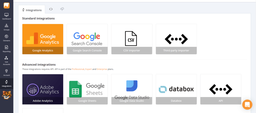3rd Party Integrations - AccuRanker