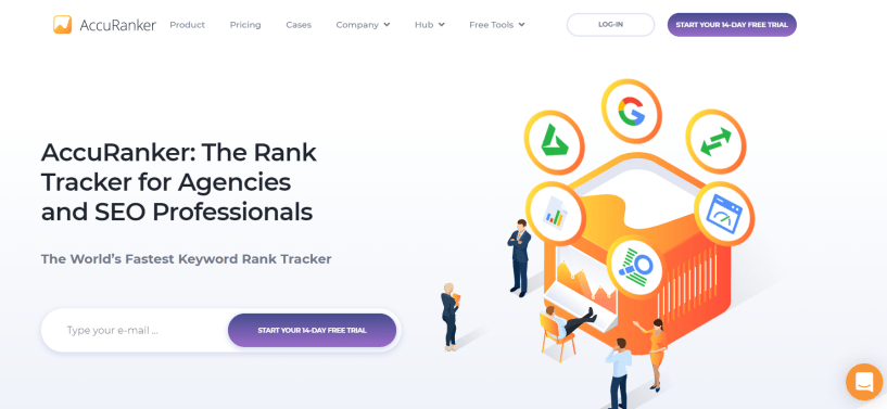 AccuRanker Review - Homepage