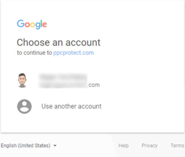 PPC Protect Review- Select A New Account