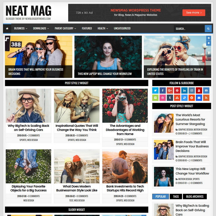 Neat Mag Blogger Template