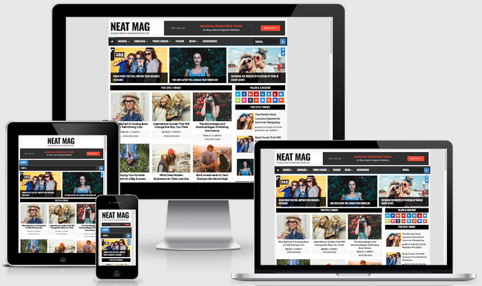 Responsive View - Neat Mag Blogger Template