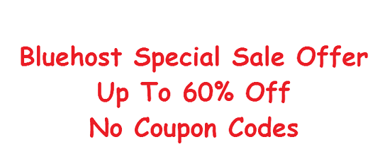 Bluehost wordpress special offer