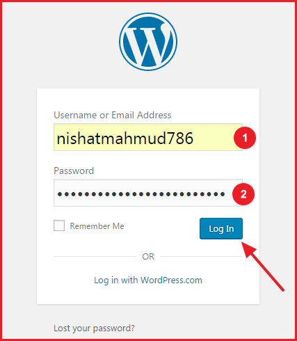How to Start a Blog on Bluehost - WordPress Login Page