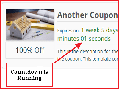 wp coupons and deals plugin review - counter