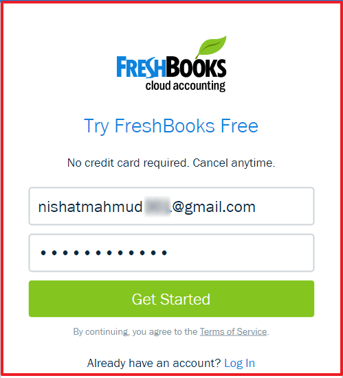 FreshBooks Free Trail - Sign up Procedure