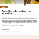 Survey: Belmont Government Accessibility