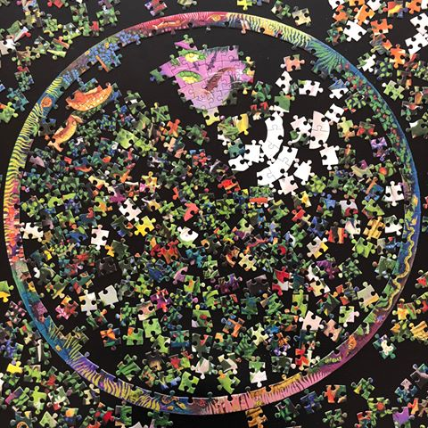 Unfinished circular puzzle
