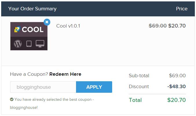 screenshot while apply MyThemeShop Coupon Code