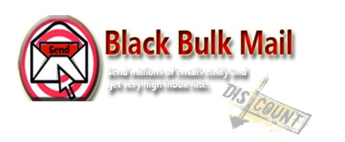 Black Bulk Mail logo