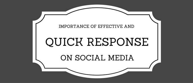 importance of effective responses on social media