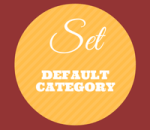 change default category