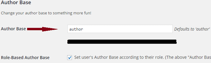 change author base url