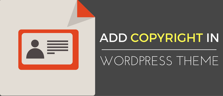 add copyright in wordpress theme