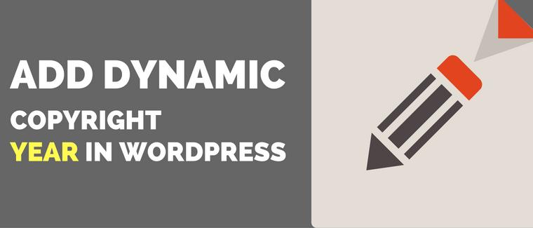 add dynamic copyright year in wordpress