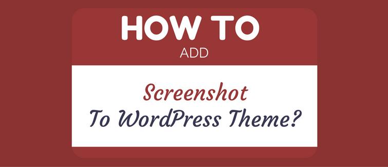 add screenshot to wordpress theme