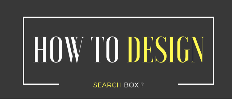 how to design search box