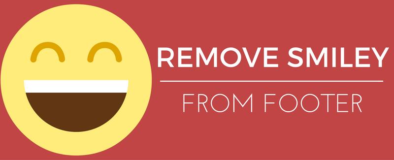 remove wordpress smiley face