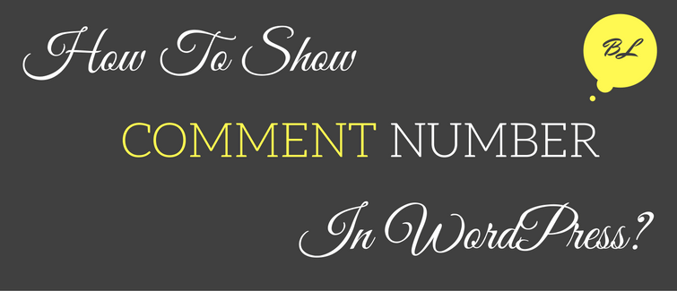 show number of comments in wordpress
