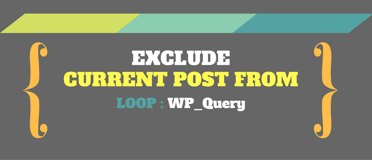 exclude current post from loop