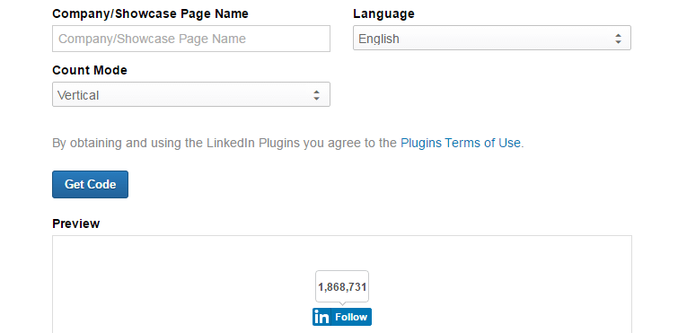add linkedin button to website