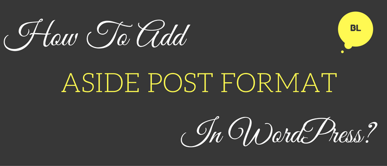 aside post format in wordpress