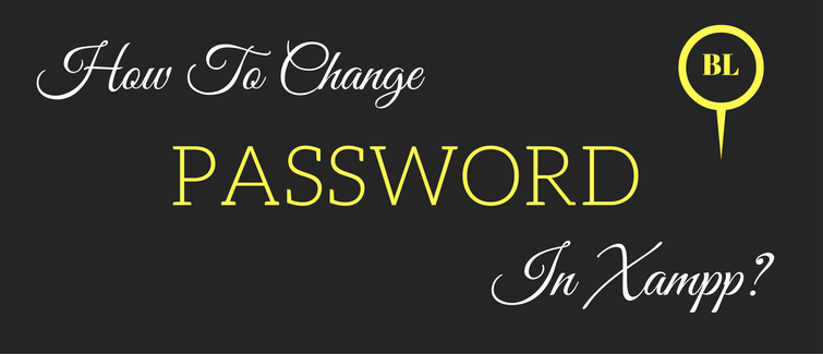 change password in xampp