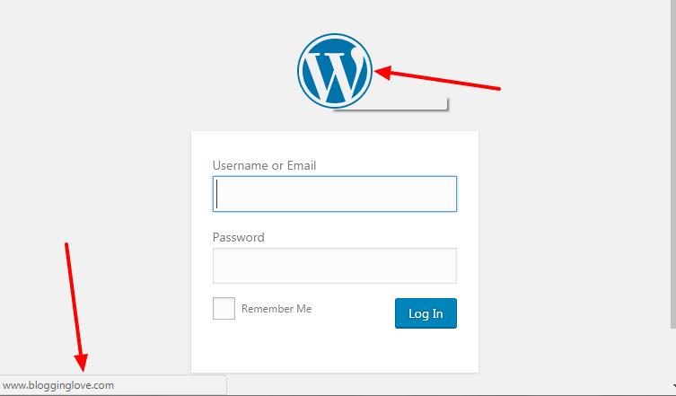 change wordpress login page logo url