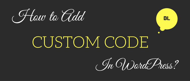 add custom code in WordPress