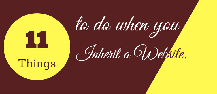 things to do when you inherit a wordpress website