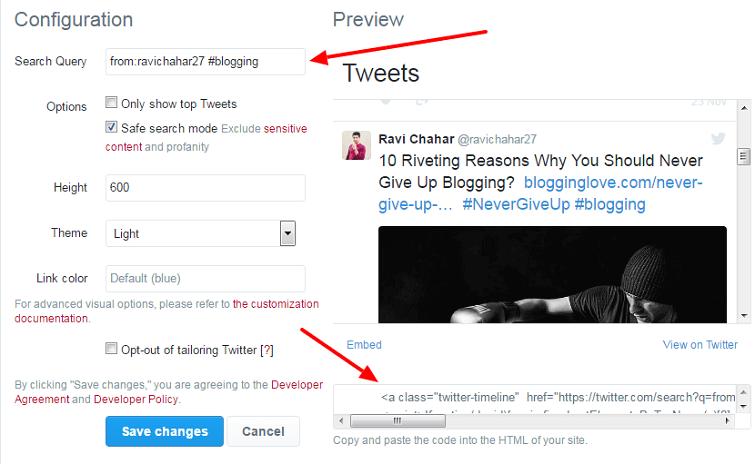 embed selective tweets in wordpress