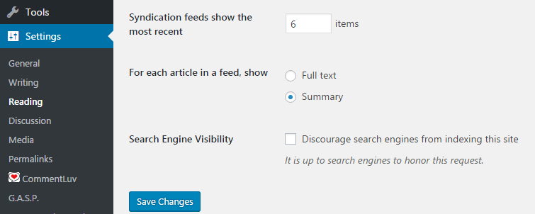 limit rss feed items