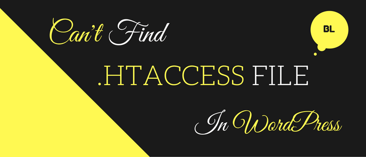 can't find .htaccess file in wordpress