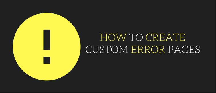create custom error pages