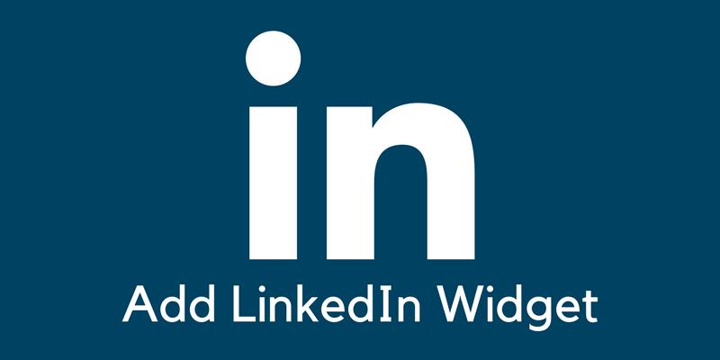 Add your LinkedIn profile widget in WordPress