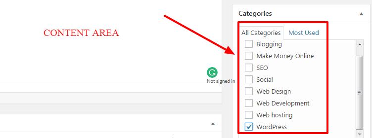 adding topics in wordpress menus