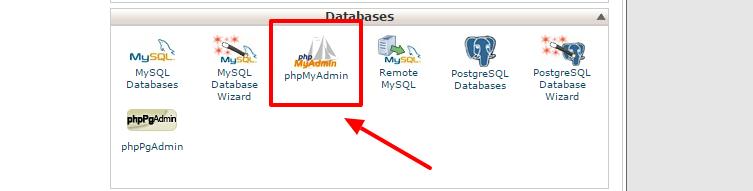 backup the database