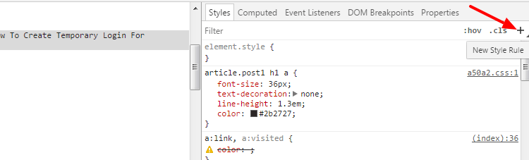 inspecting elements with your browser