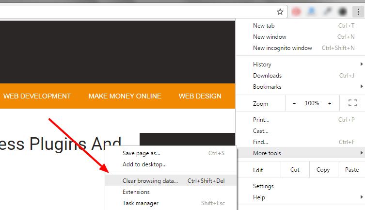 clear wordpress website cache