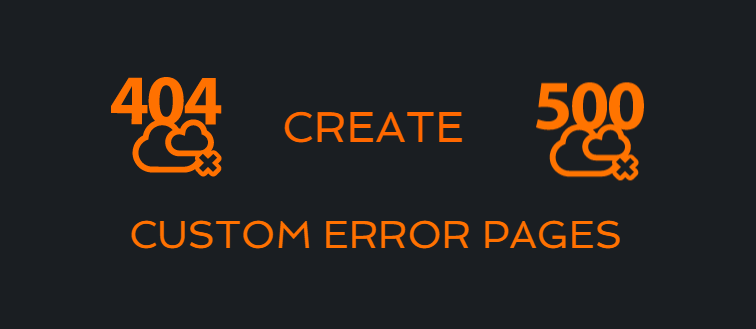 create custom pages using the .htaccess file
