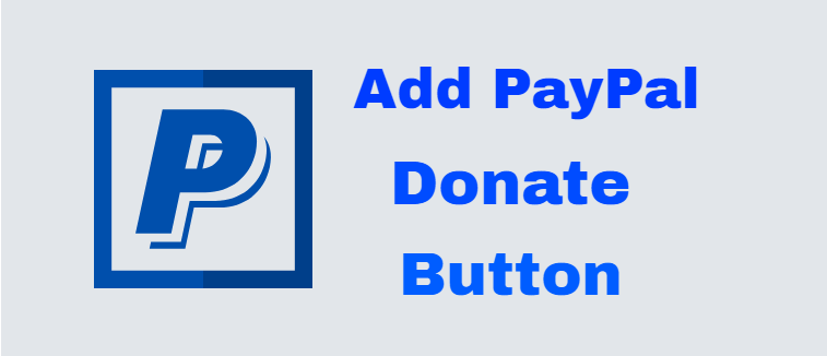 Add a PayPal donate button in WordPress