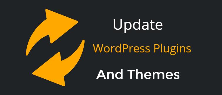 Update WordPress plugins and themes