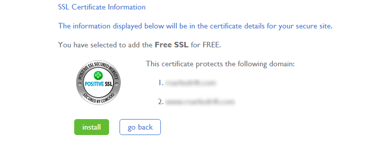 activate SSL certificate on Bluehost