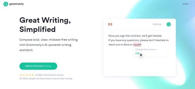 Use Grammarly to improve English Grammar  Best Copyrighting Software