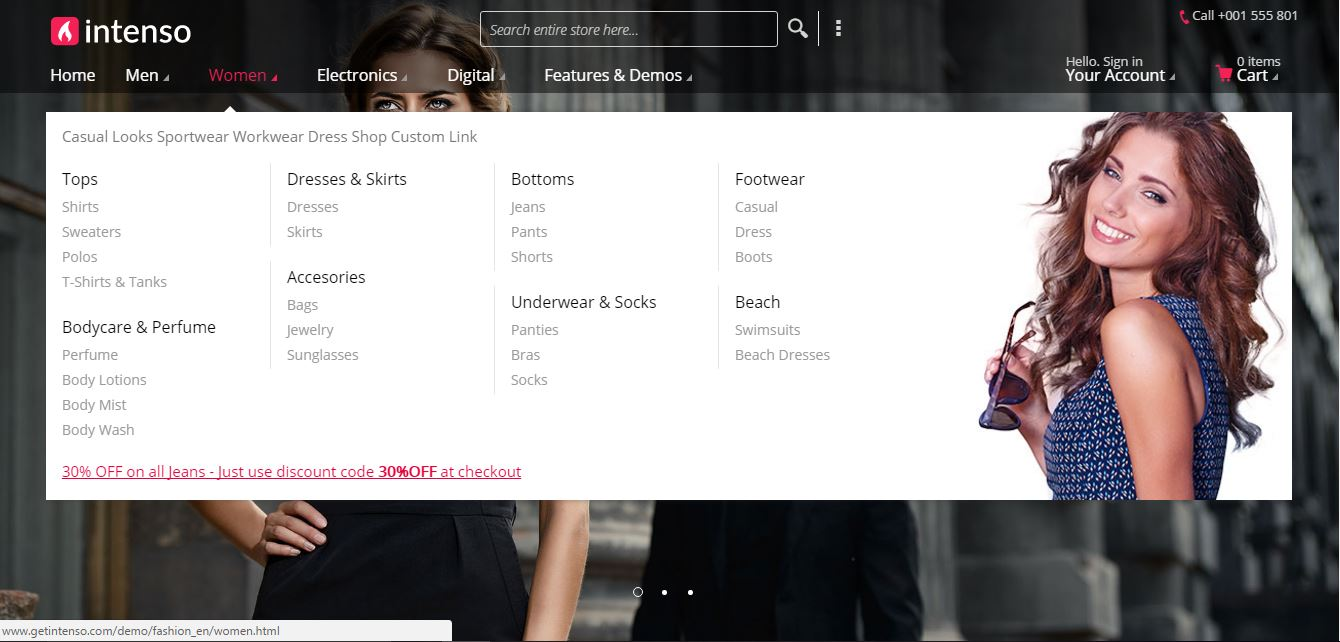 Intenso theme for Magento
