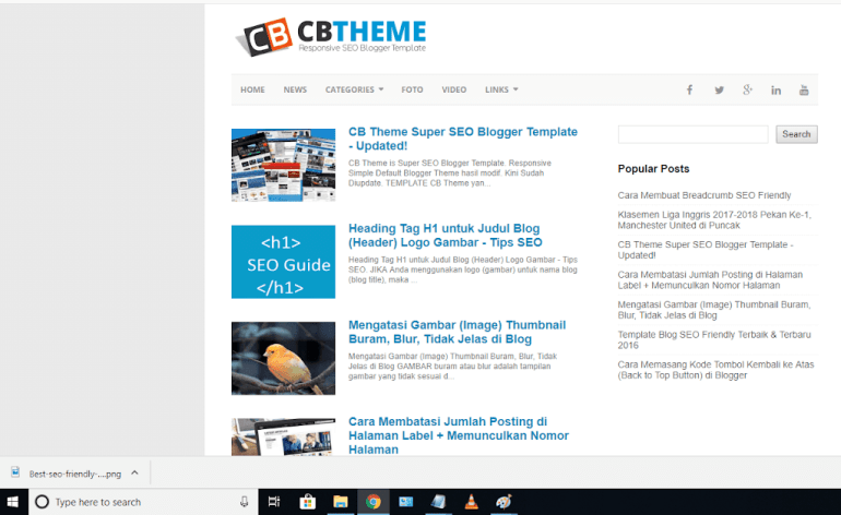 cb theme blogger template