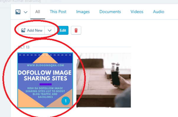 select image to upload